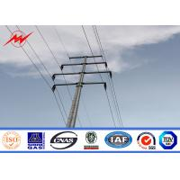 Buy cheap 15m 1200Dan Octagonal Conical Electrical Power Pole With Cross Arm Accessories from wholesalers