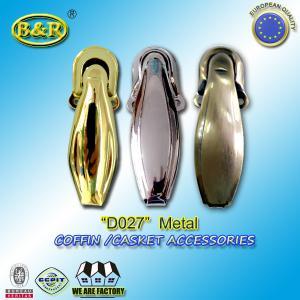China Ref No D027 metal casket hinges metal casket hardware herrajes de Ataudes Size 4.5*10.5cm wholesale