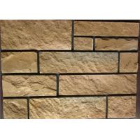 Wholesale Rectangle Exterior Faux Stone , Stone Siding Panels For Homes from china suppliers