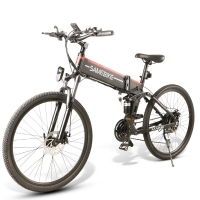 Buy cheap Folding Full Suspension 40km Mountain Electric Bicycle from wholesalers