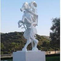 Wholesale White painting Abstract bronze sculptures, bronze horse with figure statues , China sculpture supplier from china suppliers