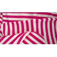 Wholesale Red Poplin White Cotton Vertical Striped Fabric For Clothes / Glove / Hat / Cushion from china suppliers