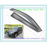 Wholesale injection wind deflector  for Toyota Highlander 2009+ [ dark coffee transperant color ] from china suppliers