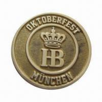 Buy cheap Emblem Coin, Made of Zinc-alloy/Brass, Available in Various Finishes, OEM Orders from wholesalers