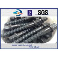 Buy cheap Customized 35# 45# Railroad Screw Spike For Railway Fastening System Construction from wholesalers
