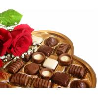 Wholesale two pieces love heart shaped rigid chocolate box from china suppliers