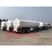 Wholesale 3 Axles 12 Wheels White Color Heavy Duty Semi Trailers 45000L Oil Tank Trailer from china suppliers