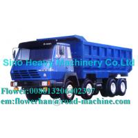 Wholesale Blue 290hp Unloading Heavy Duty Dump Truck 8 x 4 , 50 Ton Trucks from china suppliers
