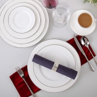 """Wholesale ISO9001 Aristocratic Salad Deep 11.5"""" 33.5x2cm Bone China Platter from china suppliers"""
