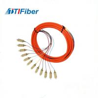 Wholesale Simplex Duplex 12 cores Fiber Optical  Pigtail OM2 50um For FTTH Network from china suppliers