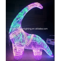 Wholesale large outdoor christmas lighted dinosaur from china suppliers