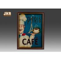 Wholesale Blue Wall Hanging Plaques Coffee House Wall Decor Antique Wooden Wall Art Signs from china suppliers