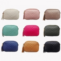 Wholesale OEM/ODM Multicolor Embroidery Ladies Chain Tassel Single Shoulder Bag from china suppliers