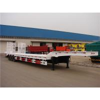 Wholesale Truck trailer supplier 3 axles low bed semi trailer with winch for machinery transport from china suppliers
