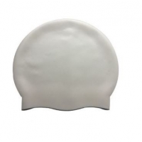 China Logo Printed Swimming Cap Silicone Household Items on sale