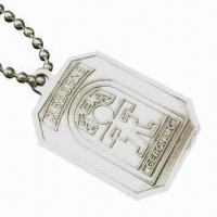 Wholesale Promotional Dog Tag, Pendant Necklaces, Made of Zinc-alloy Material, Customized Designs Accepted from china suppliers