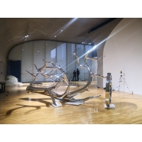 Buy cheap Exhibition mirror polish stainless steel sculptures ,metal art steel statue from wholesalers