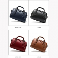 Wholesale OEM High Quality Boston Style Leather Ladies Handbag from china suppliers
