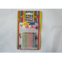 China Spiral Magic Relighting Birthday Candles / Funny Trick Candles Paraffin Wax wholesale