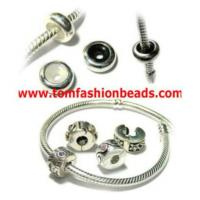 Sterling Silver European Clip And Silicone Stopper Beads