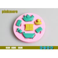 China Cute Baby Duck Silicone Cake  Molds , Food Grade Baby Shower Silicone Mould wholesale