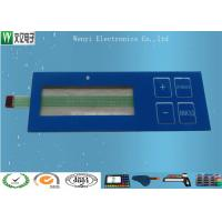 Quality Glossy Overlay & Blue Window Embossing Membrane Switch With Luxing Backadhesive for sale