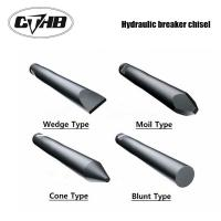 Wholesale blunt type Hydraulic Breaker Moil Point Chisel for Rock Hammer Soosan SB121 Chisel from china suppliers