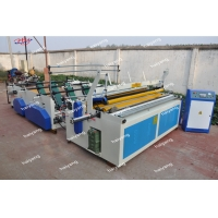 China The New Automatic Toilet tissue Paper Roll Rewinding Slitting Machine on sale