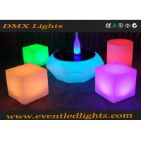 China PE Plastic Rechargeable Led Light Chair / Led Cube / Led Stool Colorful wholesale