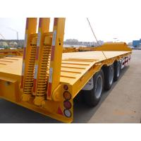 Quality Tri-axle 60ton low bed semi trailer for heavy equipment transport for sale