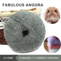 Wholesale Excessively warm angora long hairy real fur fancy knitting yarn from china suppliers