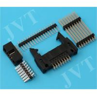 China Dual Row 2.54mm Pitch Pin Header Connector with SMT 2 - 50 Poles PA6T Housing 22 - 28 AWG wholesale
