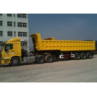 Wholesale 3 BPW Axles And Hydraulic End Dump Truck with 42 Cbm Capacity Volume from china suppliers