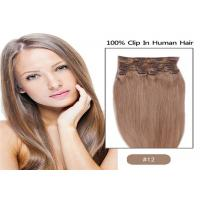 Wholesale 100% Unprocessed Brown Clip In human Hair Extensions Real Indian Virgin Hair from china suppliers