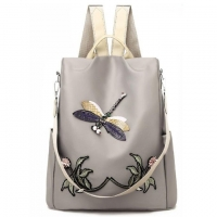 Wholesale 3d Embroidery Dragonfly Travel Polyester Womens Fashion Backpack from china suppliers