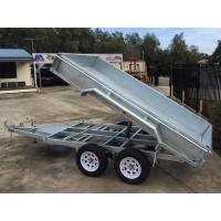 Galvanised Axle Hydraulic Tipper Trailer , 10 X 5 Tandem Trailer With Electrical Brake