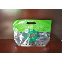 China Food Grade Fresh Grape Fruit With Handle Stand Up Pouch Ziplock Bag For Grape on sale