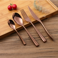 Wholesale Solid Handle Rose Gold 234mm Stainless Steel Flatware Set from china suppliers