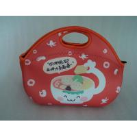 Wholesale Alibaba website promotional cheap handle neoprene picnic bag by lycra piping from china suppliers