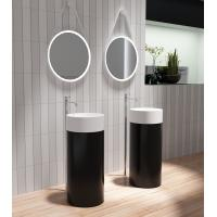 Wholesale Round Freestanding Pedestal Basin Matt Or Glossy Surface Finished from china suppliers