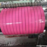 Wholesale Pink Color Coated Stainless Steel Strip Coil Organic Coating Thickness 20-45μM from china suppliers