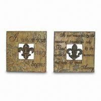 Wholesale Square Wall Plaques with Pierced FDL and Religious Wording Design from china suppliers