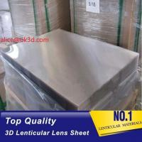 Wholesale 3d lenticular lens sheet  70LPI PET 0.9MM 60X80CM for 3d lenticular printing by injekt print and UV offset print from china suppliers