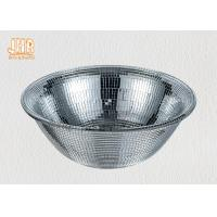 Wholesale Round Shape Shining Fiberglass Flower Bowls Silver Mosaic Glass 31cm × 11cm from china suppliers