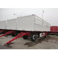 Wholesale Bulk Cargo Drawbar Full Trailer With Rail Side Wall And Cargo Fence 26ft 2 Axles from china suppliers