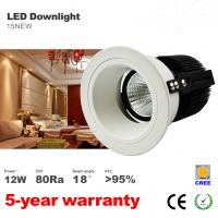 10W 12W LED Downlight Recessed Ceiling Light Spotlight 75mm Hole CREE COB LED