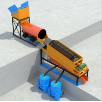 Wholesale Portable Trailer Mounted Diesel Engine Mobile Alluvial Gold Washing Trommel Screen Plant Machine from china suppliers