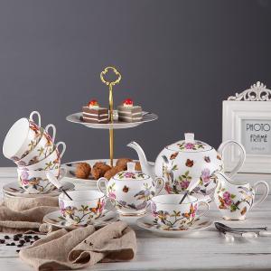Wholesale Multicolored Lightahead 1100ml Unique Antique Ceramic Teapots Set from china suppliers