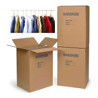 Wholesale Colored Corrugated Wardrobe Moving Boxes Packaging Corrugated Paper Carton Plus Bars from china suppliers