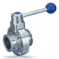 China Clamp Butterfly Valve Stainless Steel Sanitary Fittings Quick Install on sale